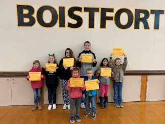 Students who earned Respect awards in September 2019